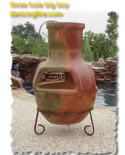 clay chiminea
