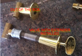 The Top Valve Is How It Comes Out Of Bag Bottom With Extension Added